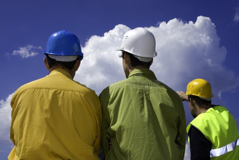 Constructeurs image libre de droits