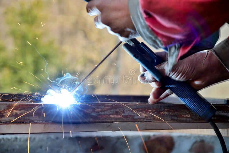 Constructeurs, acier photo stock