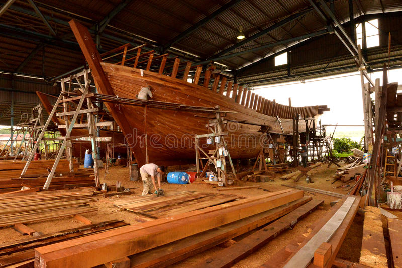Constructeurs de bateau image libre de droits