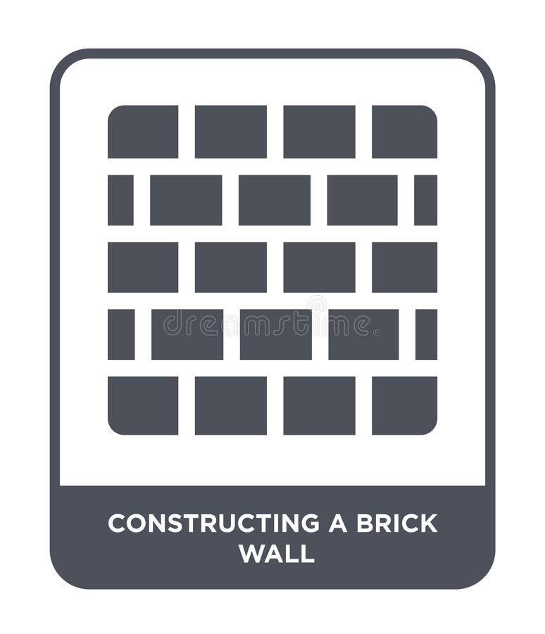 Constructing a brick wall icon in trendy design style. constructing a brick wall icon isolated on white background. constructing a. Brick wall vector icon vector illustration