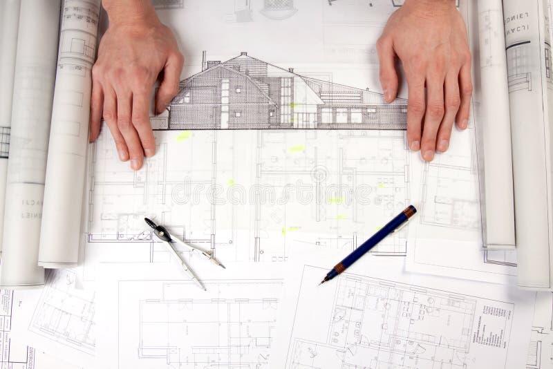 Constructino plans stock image