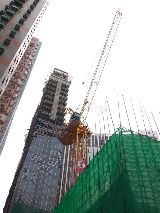 Construction à Hong Kong photo stock
