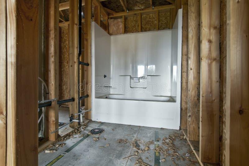 Construction à la maison 2 de salle de bains photo libre de droits