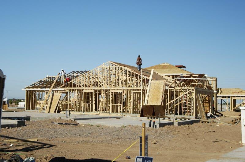 Construction à la maison neuve photographie stock libre de droits