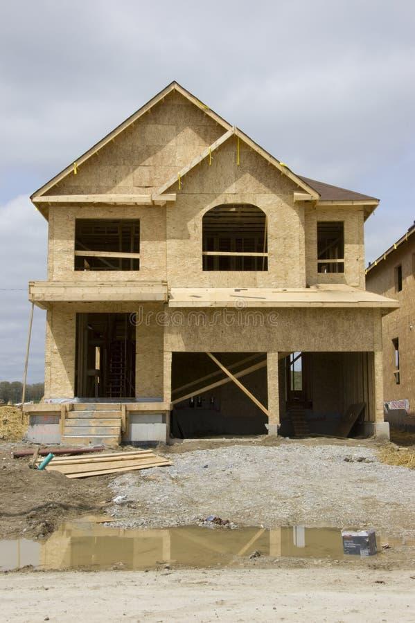 Construction à la maison neuve image stock