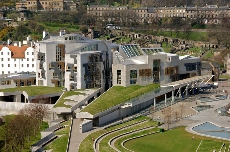 Construction écossaise du Parlement photos libres de droits