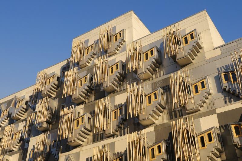 Construction écossaise du Parlement, Edimbourg, Ecosse images stock