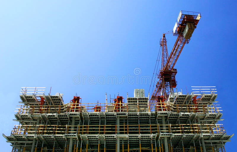 Download Construction stock photo. Image of highrise, achievement - 1122502