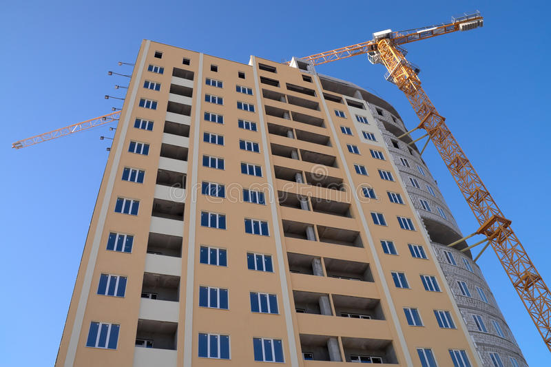 Construction. Of high rise residential building royalty free stock photos