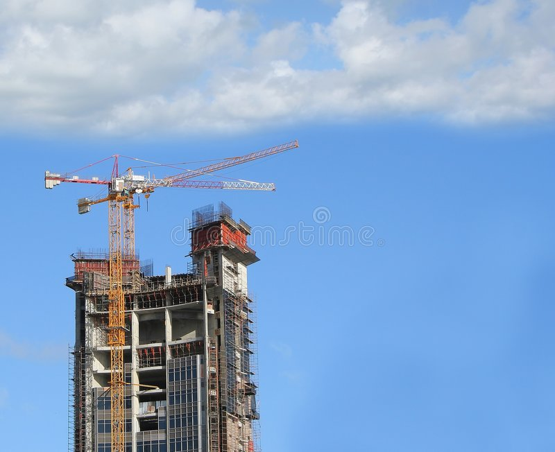 Download In construction stock photo. Image of construction, blue - 225292