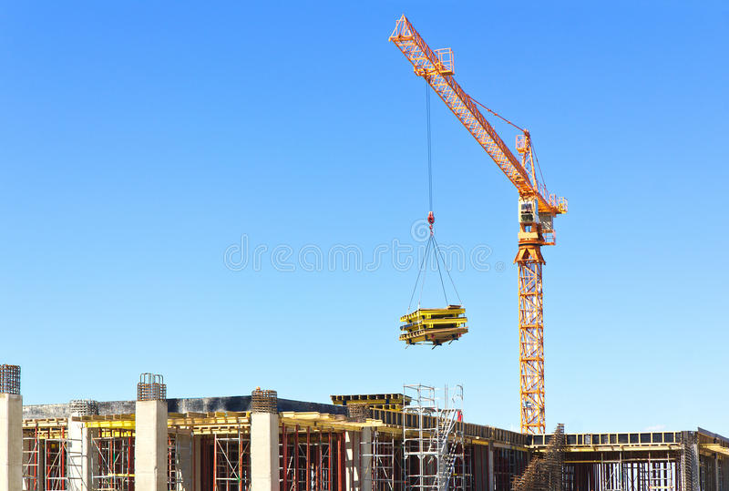 Download Construction stock photo. Image of concrete, blue, industrial - 26194554