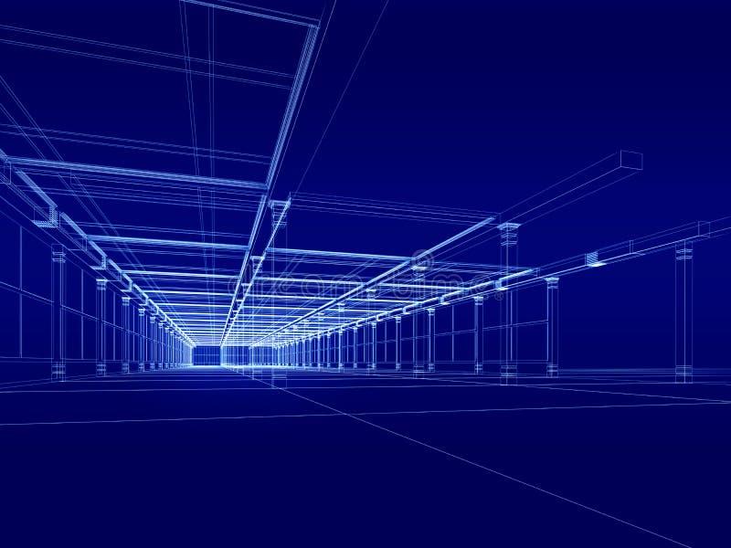 construction 3D architecturale illustration de vecteur