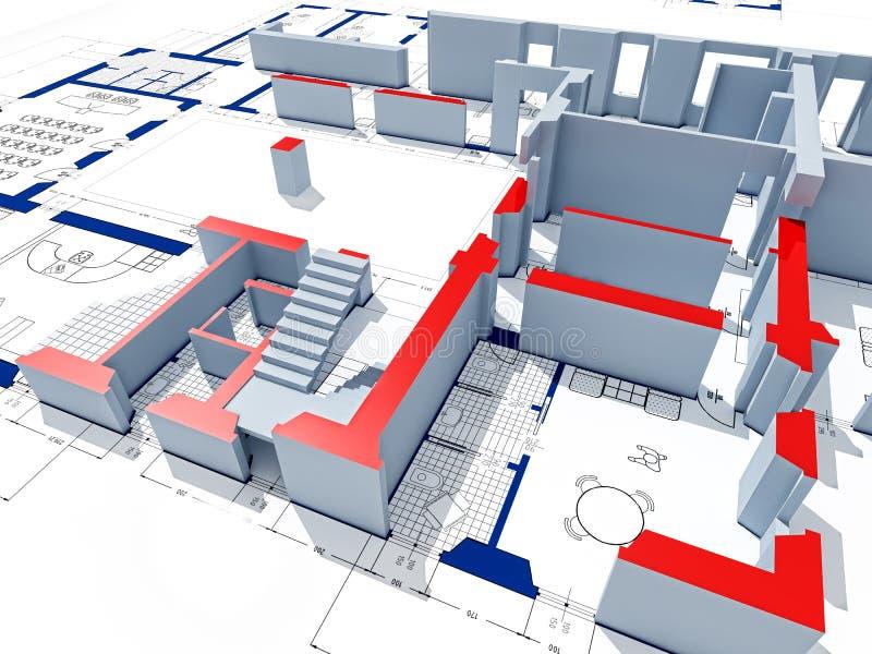 construction 3d modèle illustration libre de droits