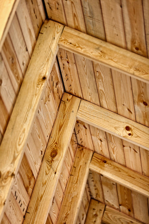 Free Construction A Wooden Roof - Inside View Royalty Free Stock Image - 25185126