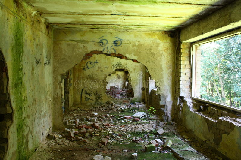 Construction abandonnée photographie stock
