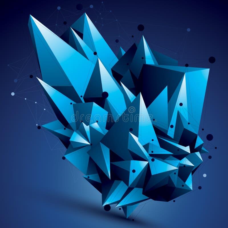 construction abstraite élégante moderne de la maille 3D, colorée illustration de vecteur