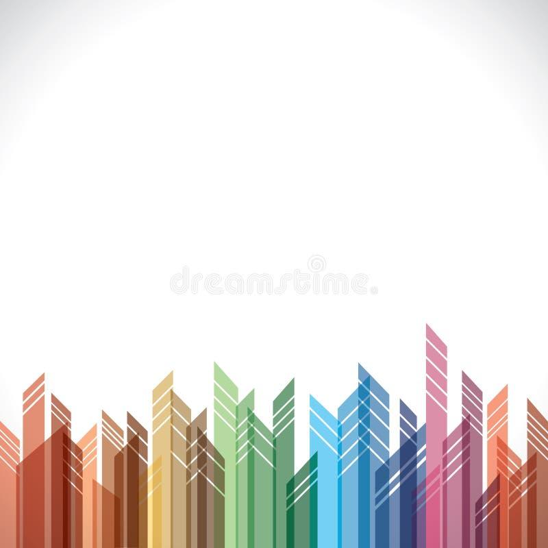 Construction abstraite colorée illustration de vecteur