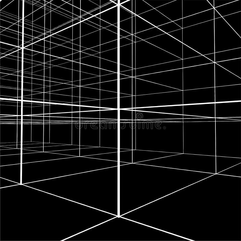 Construction abstraite du vecteur 218 de fil illustration stock