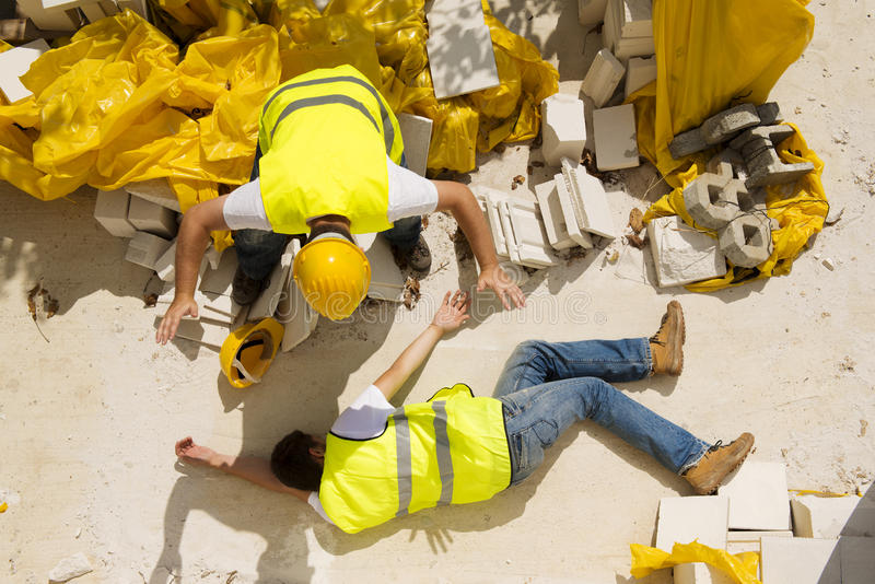 Construction accident royalty free stock photography