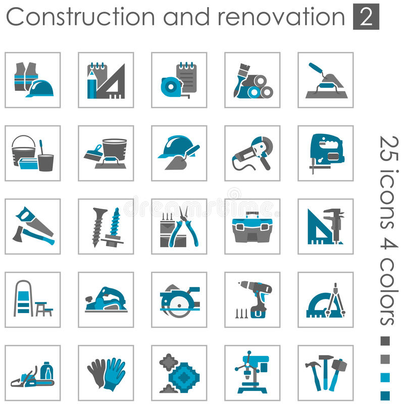 Free Construction And Renovation Icons 2 Royalty Free Stock Photography - 29793507