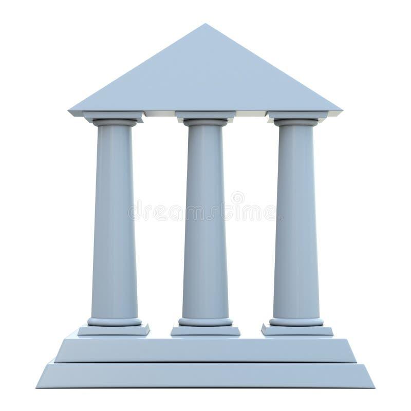 Construction antique avec 3 fléaux illustration libre de droits