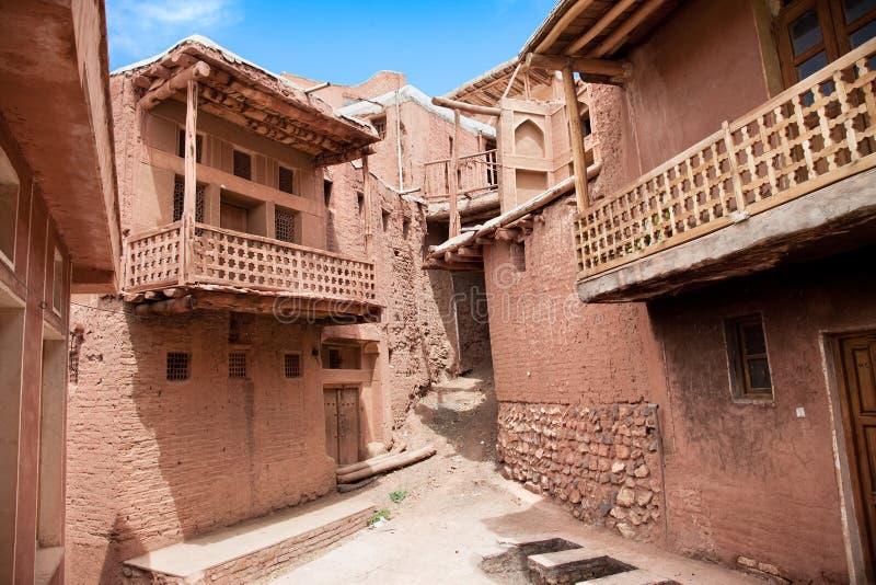 Construction antique dans le village Abyaneh, Iran photo libre de droits