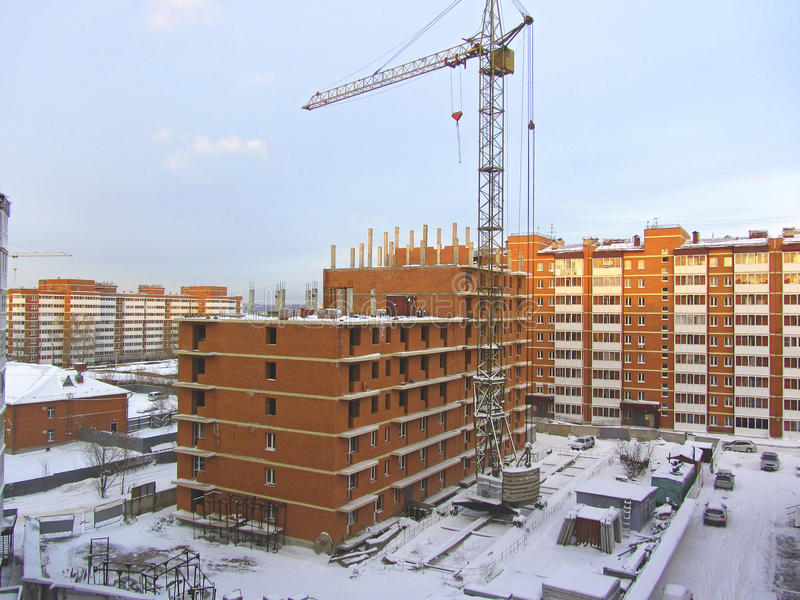 Construction Of Apartment Building stock images