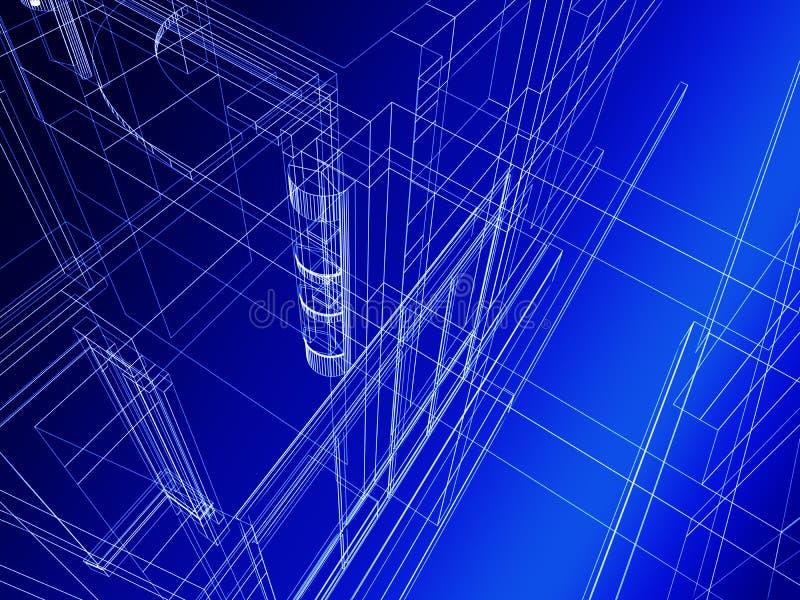Construction architecturale abstraite illustration stock