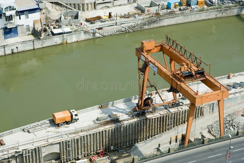 Construction area stock image