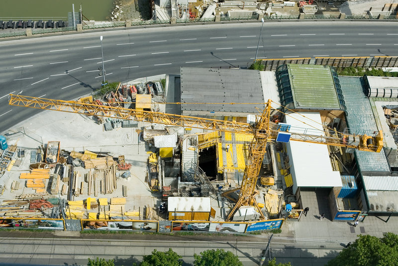 Construction area royalty free stock photo