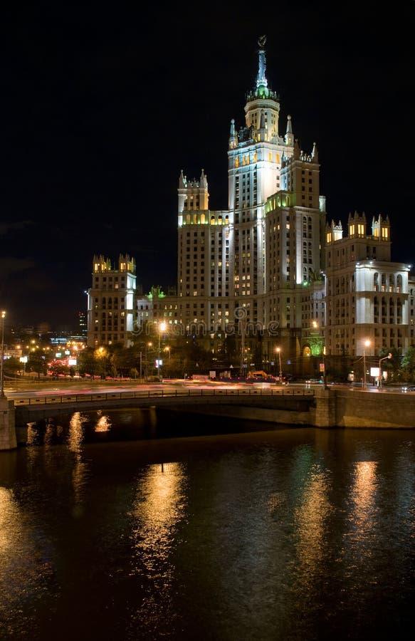 Construction au remblai de Kotelnicheskaya photo libre de droits