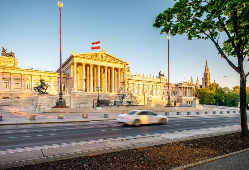 Construction autrichienne du Parlement à Vienne photos stock
