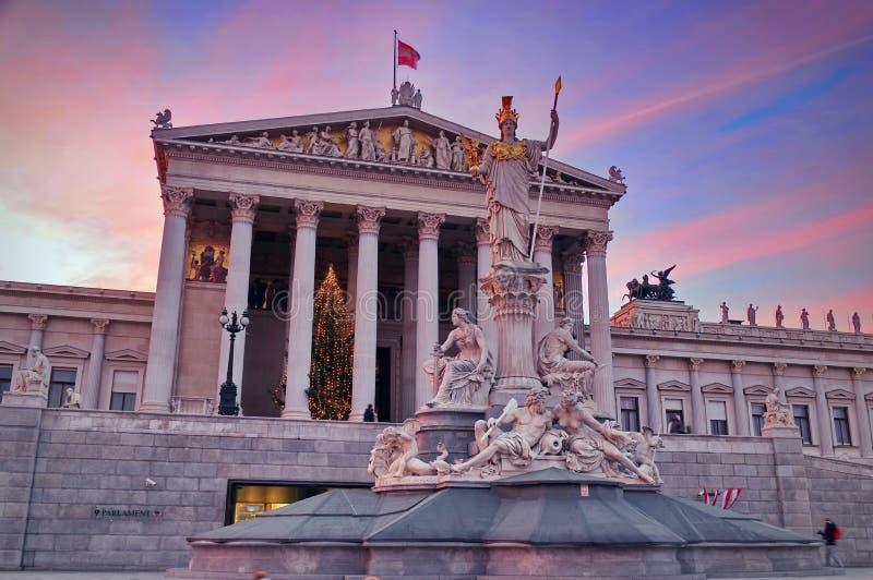 Construction autrichienne du Parlement photographie stock libre de droits