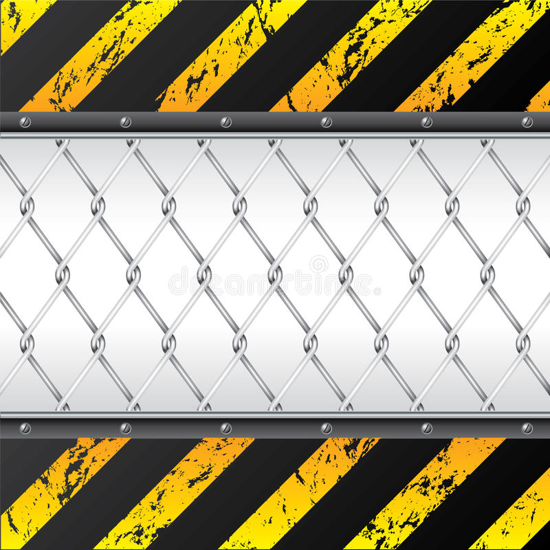 Free Construction Background Design With Wired Fence Stock Images - 18364834