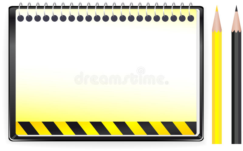 Download Construction Background With Notepad And Penci Stock Vector - Illustration of clean, advertisement: 24521691