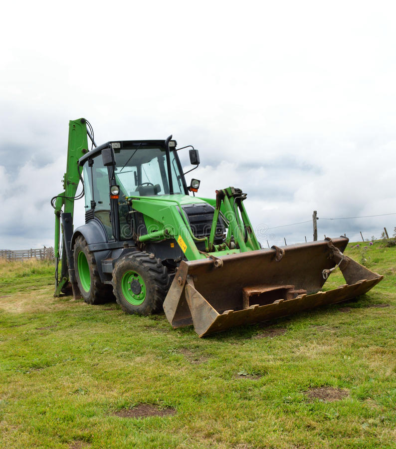 A construction backhoe stock photography
