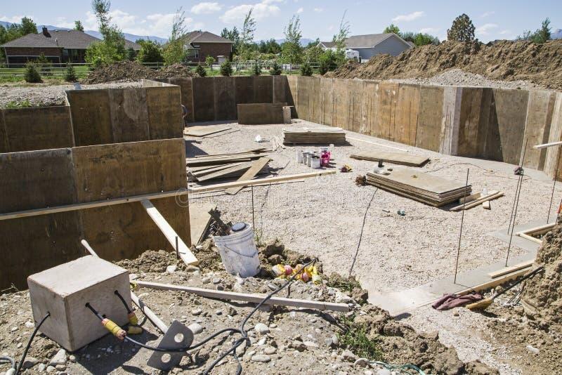 Construction basement forms excavation site stock image for Basement forms