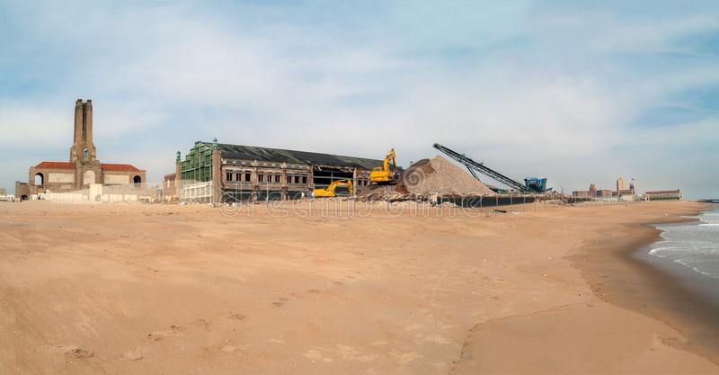 Construction on the Beach royalty free stock photo