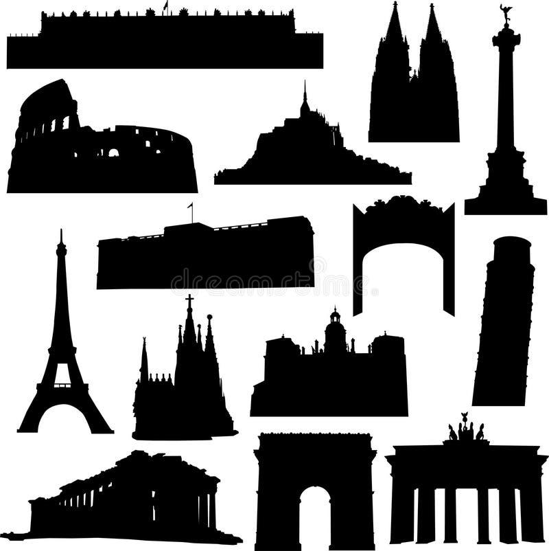 Construction bien connue en Europe illustration libre de droits