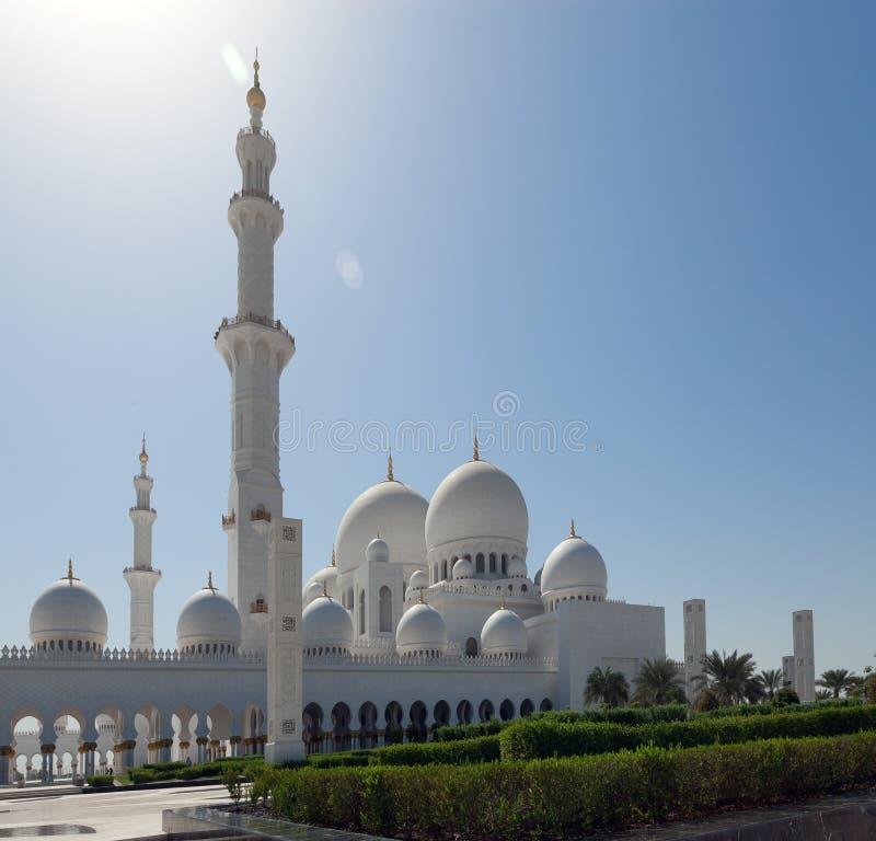 Construction blanche de mosquée image stock