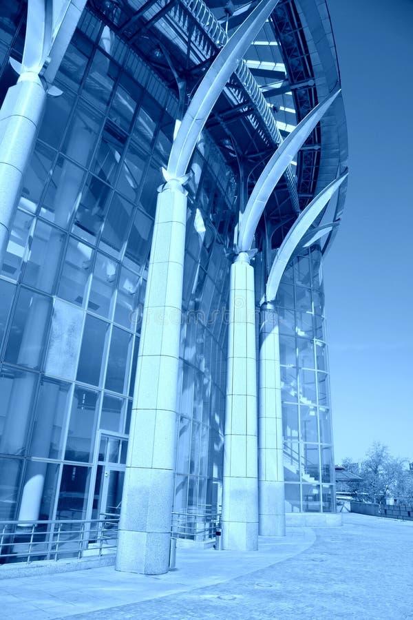 Construction bleue. Chambre de Moscou de la musique photographie stock libre de droits