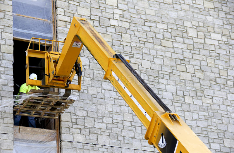 Construction boom lift royalty free stock image