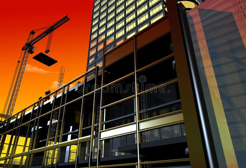 Construction of a building stock illustration