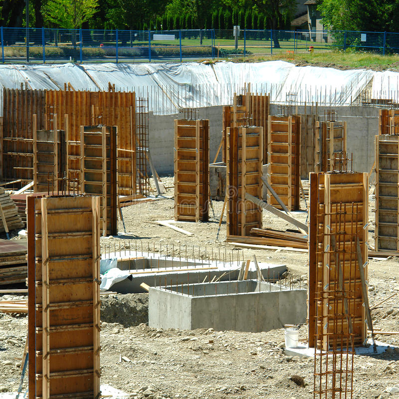 Construction Building Foundation stock images