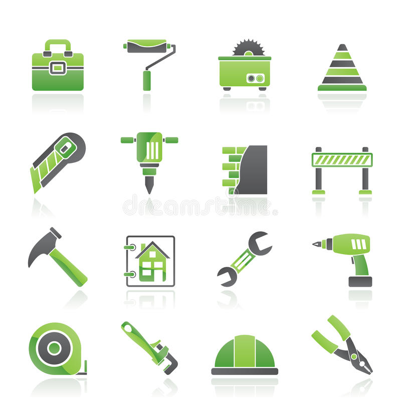 Construction and building Icons. Vector icon set vector illustration