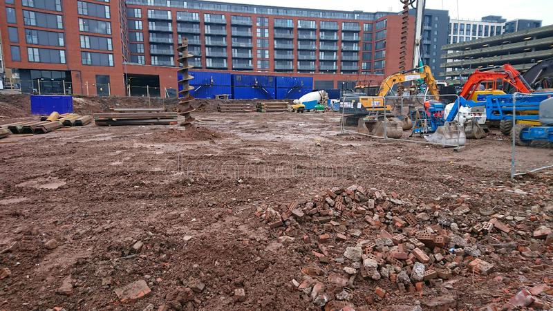 Construction Building Site stock image