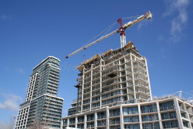 Construction bulding d'appartement photographie stock