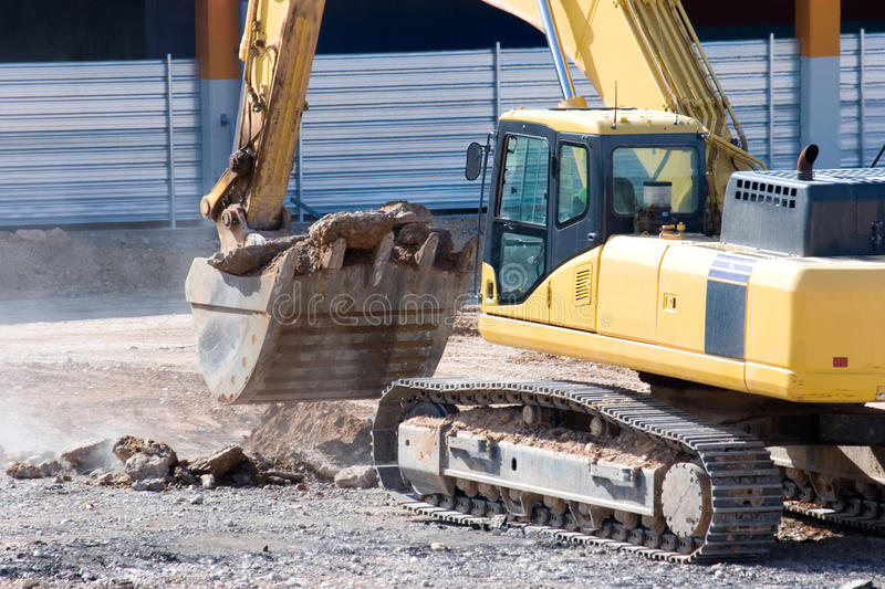 Download Construction bulldozer stock image. Image of excavation - 14784653