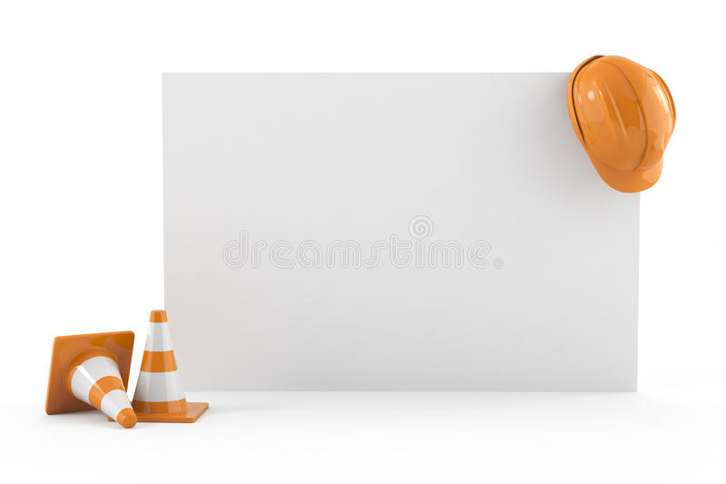 Construction, business card concept vector illustration