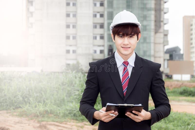Construction business man stock image